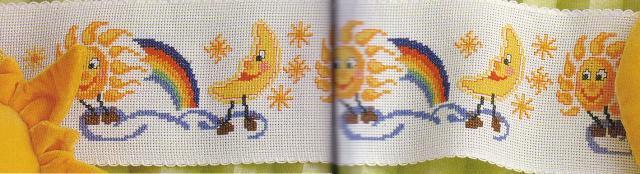 Схема вышивания крестом - Солнце и луна