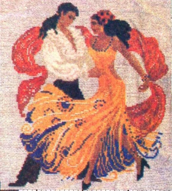 Схема вышивания бисером - Танец страсти