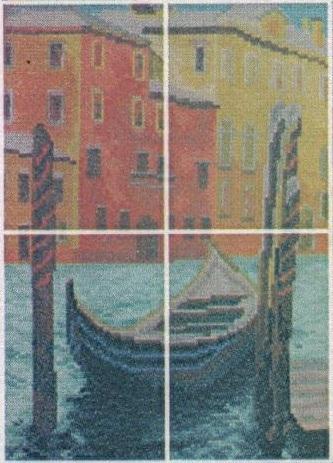 Схема вышивания бисером - Вечерняя Венеция