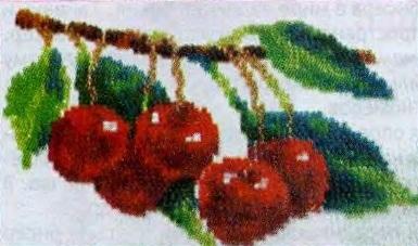 Схема вышивания бисером - Аппетитная вишня