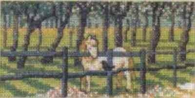 Схема вышивания крестом - Жеребёнок