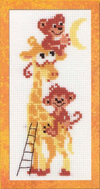 Схема вышивания крестом - Жирафик