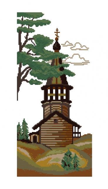 Схема вышивания крестом - Уральская часовня