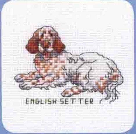 Схема вышивания крестом - Английский сеттер