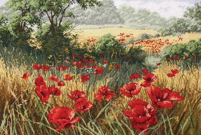 Схема вышивания крестом - Маковое поле (Host Of Poppies)