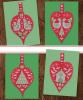 Схема вышивания крестом - Открытка новогодняя или новогоднее украшение