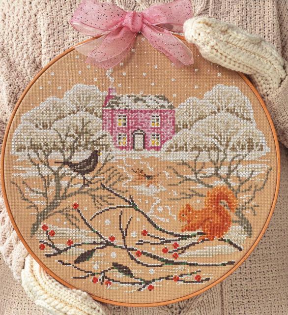Схема вышивания крестом - Снежный дом