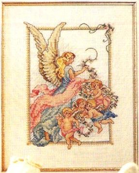 Схема вышивания крестом - Ангелы