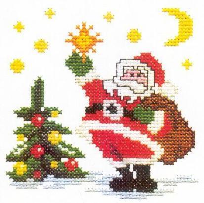 Схема вышивания крестом - Рождественское дерево