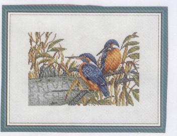 Схема вышивания крестом - Птички
