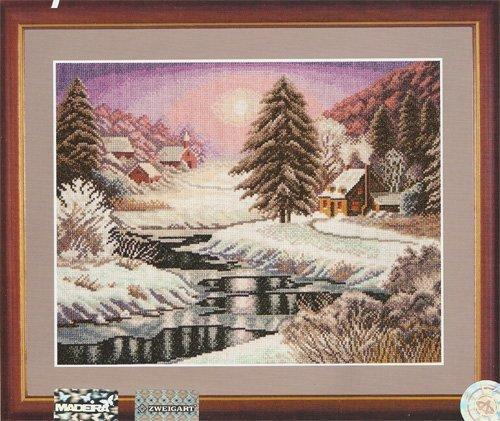 Схема вышивания крестом - В плену у зимней красоты