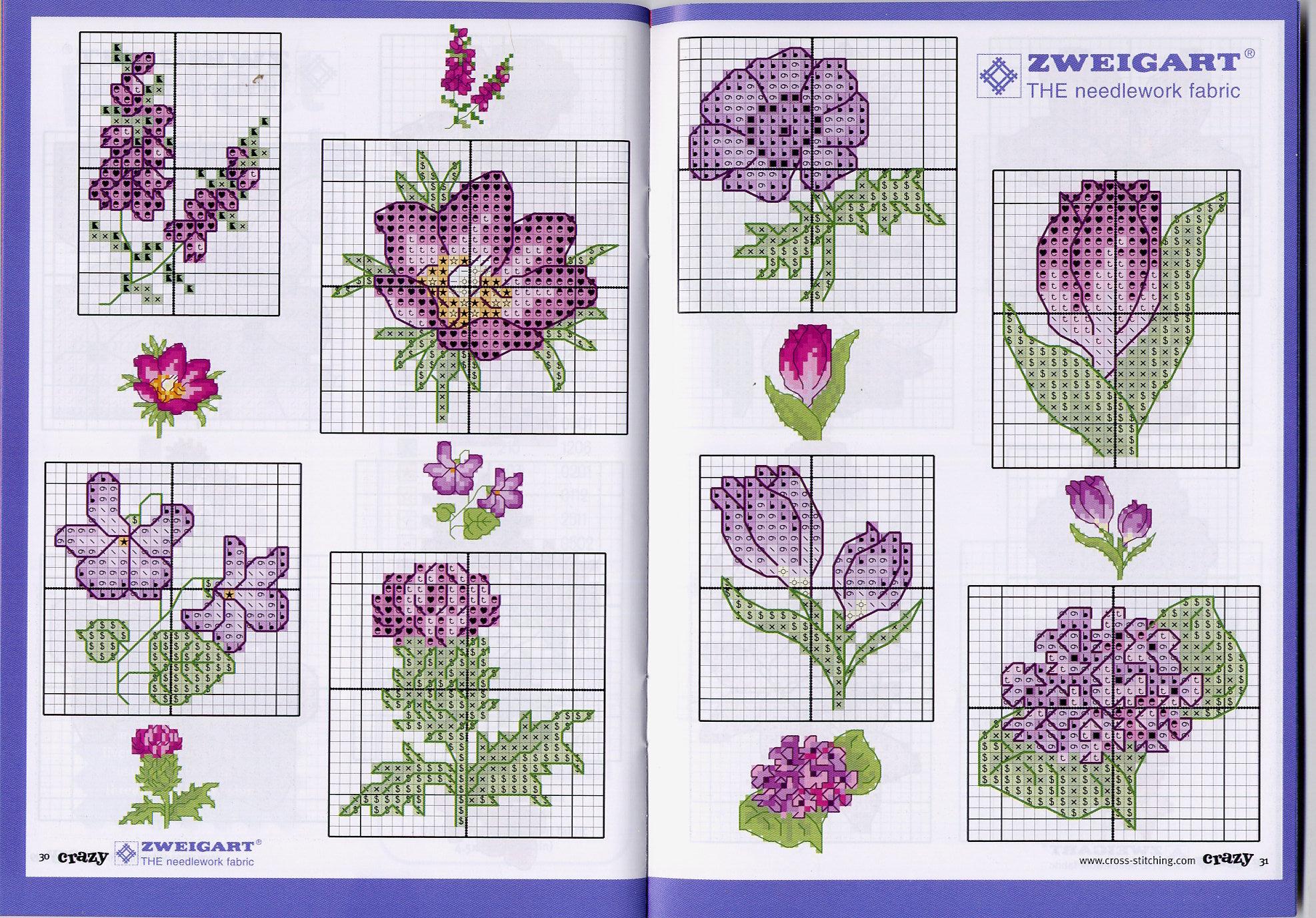 Схемы вышивки в открытках